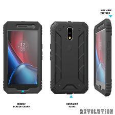 Case For Motorola Moto G4 Plus Poetic【Revolution】Shock Absorption Case Black