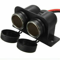 In Car 12V Waterproof Double Cigar Cigarette Lighter Charger Socket Adaptor C8G8