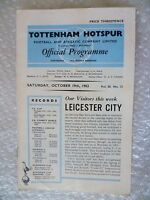 1963 Tottenham Hotspur v Leicester City, 19th Oct (League Division One)
