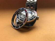 LAST! POLISHED RED/BLACK Custom Bezel for Vostok Amphibian Komandirskie Watch