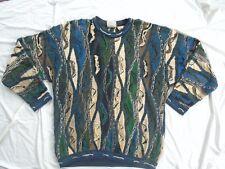 Men's Vintage COOGI Australia Blue/Green Crew Neck Sweater Size XLT