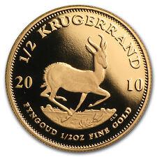 2010 South Africa 1/2 oz Proof Gold Krugerrand - SKU #88122