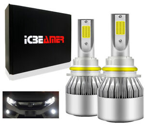 9004 HB1 LED COB Canbus 72W Fit Hi/Lo Beam White Replacement Headlight Bulbs J39