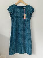 Womens Dress Size 8 Green White Stuff <Z2620