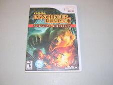 CABELA'S DANGEROUS HUNTS 2011 SPECIAL EDITION (Nintendo Wii) Complete