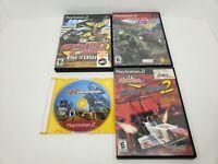 Lot Of (4) - PS2 Racing Games MX, Sprint Cars, ATV4 AndDrag Racing 2