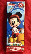 """Disney Mickey Mouse Clubhouse Scooter Tower Jigsaw Puzzle 24 Piece NEW 18.8x5"""""""