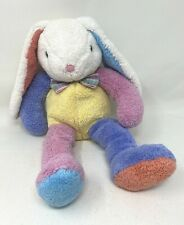 Dan Dee Multi-colored Bunny Rabbit with Plaid Bow Tie