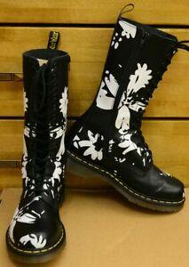 Dr Martens Petula Black - White, 14 eye ladies shoes, Size UK 7, EU 41