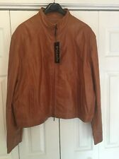 NWT MADDOX Italian  Men's Genuine High Quality Leather Jacket 6XL