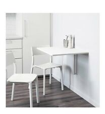 IKEA White Fold Down Space Saving Table Norberg