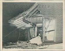 1947 House Wrecked After Plane Crashed Into It Nashville Tennessee Press Photo