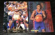 THEO RATLIFF RC LOT 1995-96 Fleer #304 & Upper Deck #259 ~ Detroit Pistons ~ F1