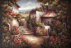 Garden,Original Oil Painting by N. Knox, 91 X 61 cm