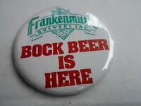 "VINTAGE 3"" PINBACK BUTTON #55- 047 - FRANKENMUTH BREWERY INC - BOCK BEER"