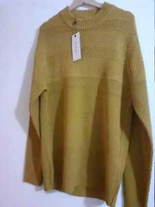 SELECTED HOMME High Neck Jumper/Sweater RRP £45 Colour Mustard Yellow New Size S