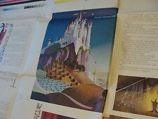Vintage circa 1959 Print Sample Poster Disney Sleeping Beauty Book 36X48, #2