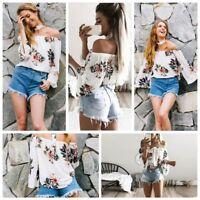 New Women's Summer Fashion Long Sleeve Loose T-Shirt Casual Blouse Shirt Tops