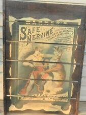 Warner's Safe Nervine Tiger Rare 1892 Advertising Poster Original Raisenrak 1974
