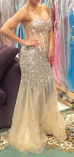 *JOVANI*Prom* Pageant* Gown*Dress*Evening*  SIZE 4 BLUSH COLOR