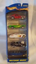 Hot Wheels Motorin' Music 25372 2000 5 Car Gift Pack Mattel New (B3)