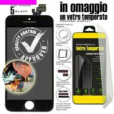 TOUCH SCREEN PER IPHONE 5 NERO VETRO DISPLAY LCD SCHERMO MONITOR ASSEMBLATO