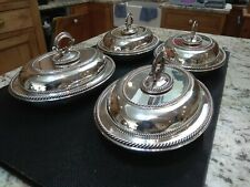 More details for set of four elkington silver plated entree dishes dated 1857