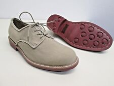 Bass Khaki Shoes Bridgeton sz 12D men's canvas red soles EUC!! oxford casual vtg