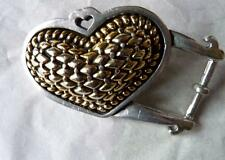 Heart Buckle Vicenza Gold Silver