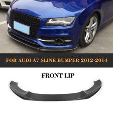 Kohlefaser Frontlippe Kinn Spoiler Stoßstange passend für Audi A7 S-Line 12-14