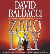 """ZERO DAY"" by David Baldacci 6CD AUDIOBOOK, Military Investigator Thriller"