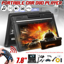 7.8'' Portable Car TV CD DVD Player 270° Screen Game Joystick Remote Control