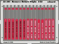 EDUARD 1/32 AIRCRAFT- REMOVE BEFORE FLIGHT TAGS (PAINTED) | 32501