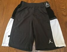 NIKE AIR JORDAN JUMPMAN Boys Shorts Mesh Gym Gray Black Youth Size L (12-13yrs)