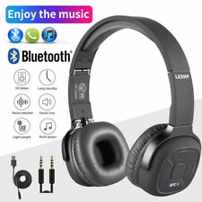 Wireless Bluetooth Headphones Over Ear Stereo Super Bass Earphone Headset Mic Fm