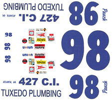 #98 Richie Panch Tuxedo Plumbing 1972 1/25th - 1/24th Scale WATERSLIDE DECALS