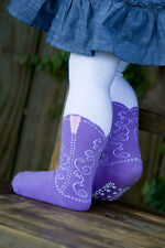ITTY BITTY LAVENDER COWBOY BOOT TIGHTS BOOTZIES FOR YOUR BABY COWGIRL SZ 0-6 MOS