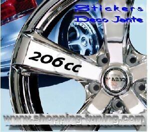 8 STICKER AUTOCOLLANT LOGO JANTE PEUGEOT 206CC 206 CC