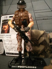 GI JOE ~ 2009 FOOTLOOSE ~ TOYS R US  CAMO EXCLUSIVE ~100% COMP & FILE CARD