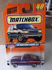 "MATCHBOX CLASSIC DECADES #40 ""68 MUSTANG COBRA JET"" SERIES 5     NIP"