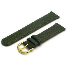 Leather Watch Strap Band, Shark Grain 20mm Green  g D021
