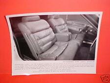 1980 FORD THUNDERBIRD INTERIOR PRESS KIT PHOTO BROCHURE