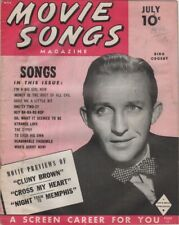Movie Songs Magazine Vol 1 No4 7/1946 Bing Crosby Cover lots of photos in side