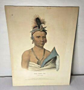 Native American Print Kee Shees Wa (a Fox Chief) by F.W. Greenough 1836