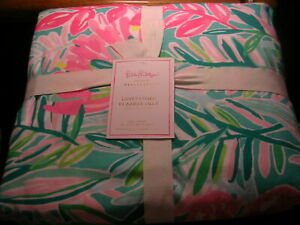 "POTTERYBARN LILLY PULITZER DUVET COVER ""IN JUNGLE LILLY"" KING SIZE NEW WITH TAGS"