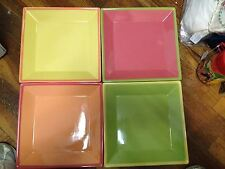 Four Colorful 10 X 10 Plates/Servers-ss