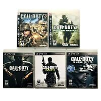 Call of Duty - Lot of 5 - Playstation 3 PS3 - Ghosts Black Ops Modern Warfare 3