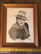 Limited Edition Portrait Of John Wayne by Western Artist Larry Bee's Framed