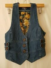 Cotton Blend Machine Washable Floral Vests for Women