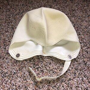 Classic Vintage Swim Bathing Cap Molded Rubber w/ Chin Strap Bow Design Canada
